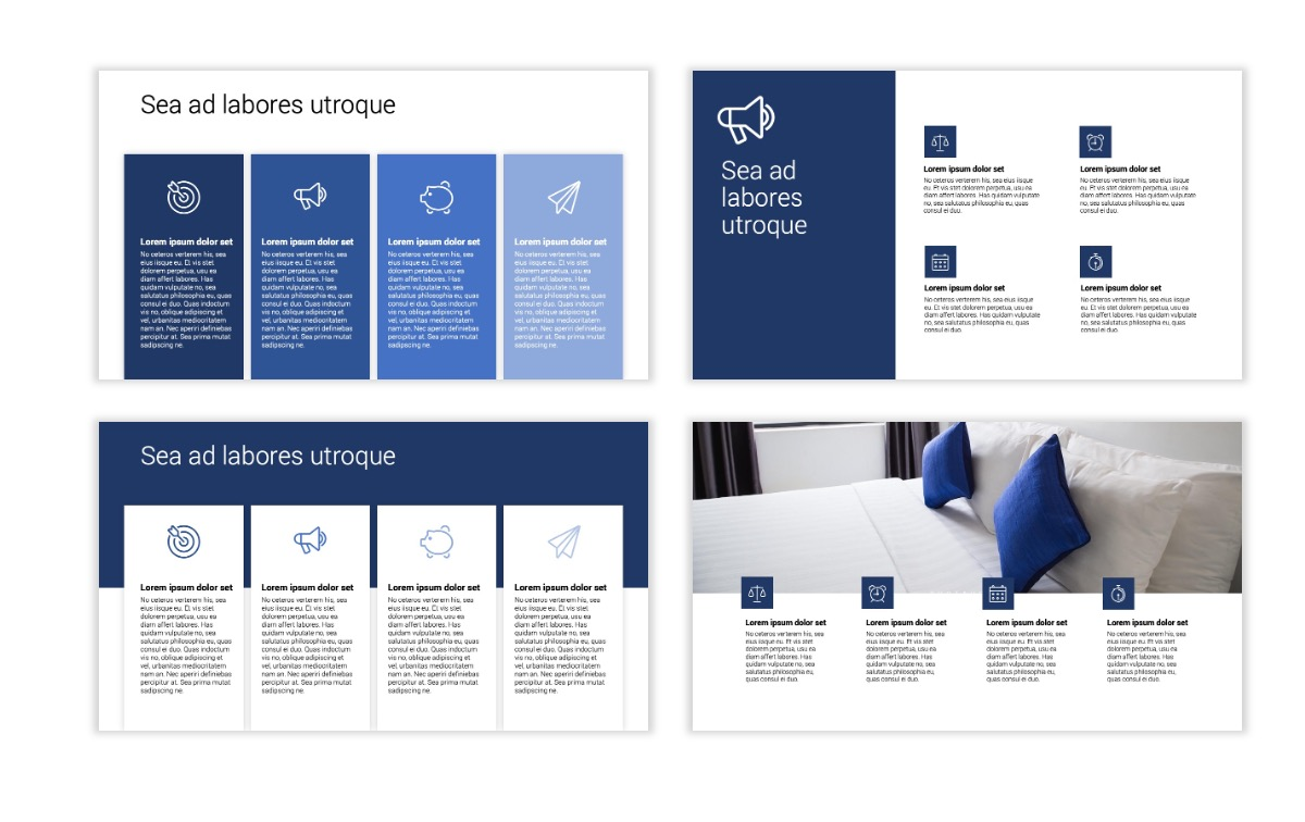 Minimal PPT Templates - Navy - Monochromatic - Interior Design - Real Estate Slide13