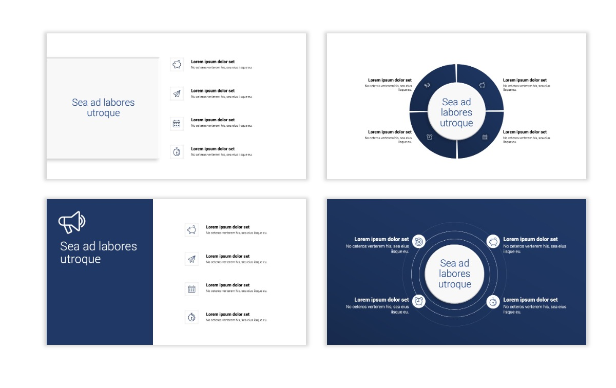 Minimal PPT Templates - Navy - Monochromatic - Interior Design - Real Estate Slide15