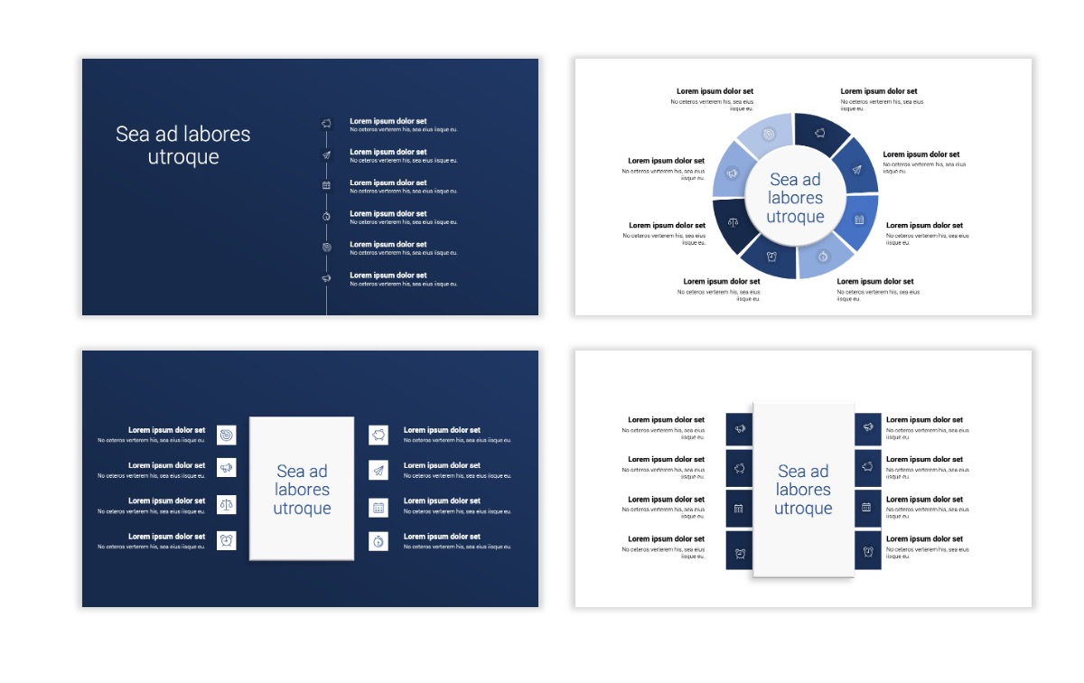 Minimal PPT Templates - Navy - Monochromatic - Interior Design - Real Estate Slide21