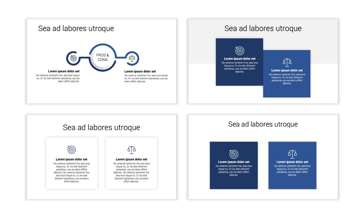 Minimal PPT Templates - Navy - Monochromatic - Interior Design - Real Estate Slide3