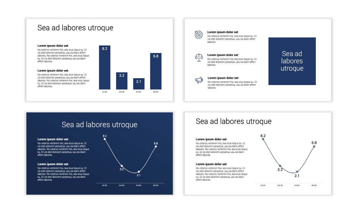 Minimal PPT Templates - Navy - Monochromatic - Interior Design - Real Estate Slide5