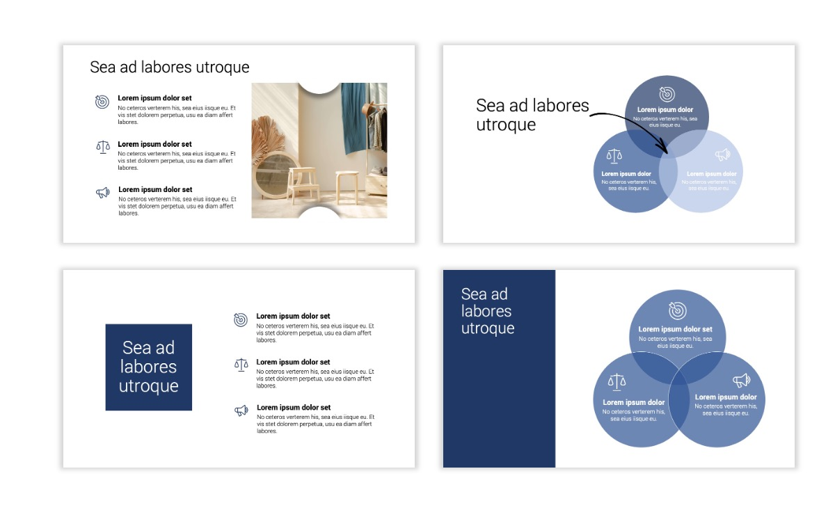 Minimal PPT Templates - Navy - Monochromatic - Interior Design - Real Estate Slide6