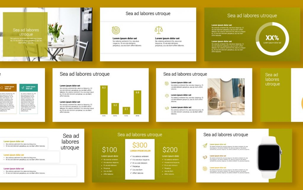 Toronto Minimal Olive Green PowerPoint Template