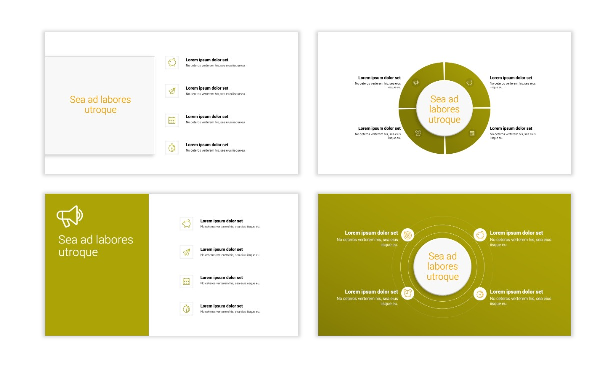 Minimal PPT Templates - Olive Green - Colorful - Interior Design - Real Estate Slide15
