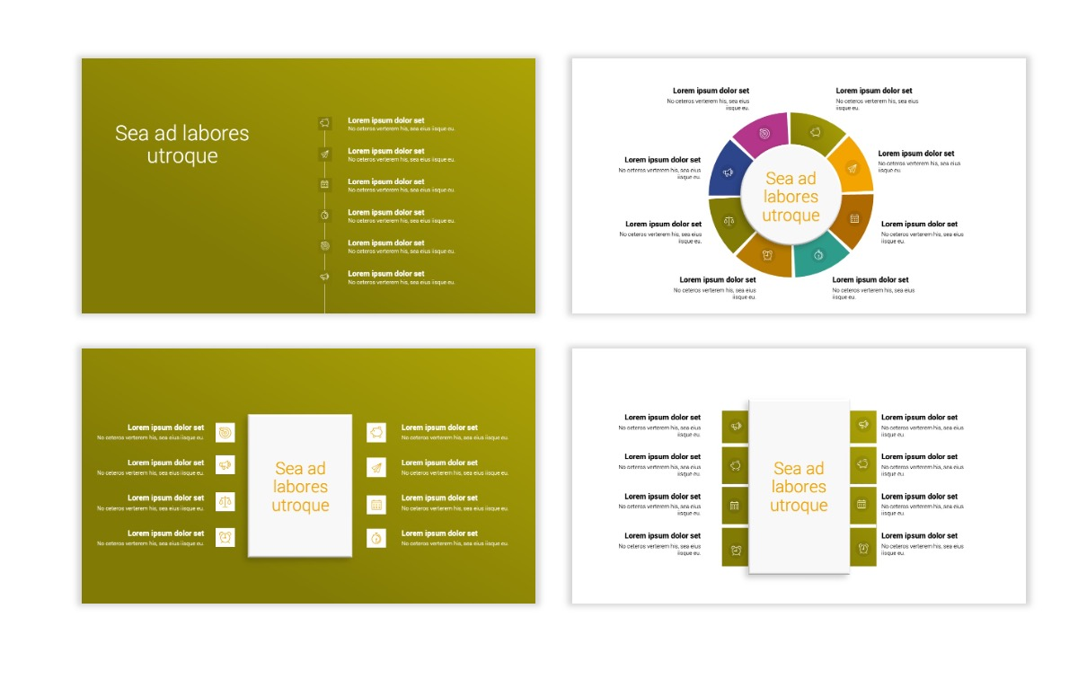 Minimal PPT Templates - Olive Green - Colorful - Interior Design - Real Estate Slide21