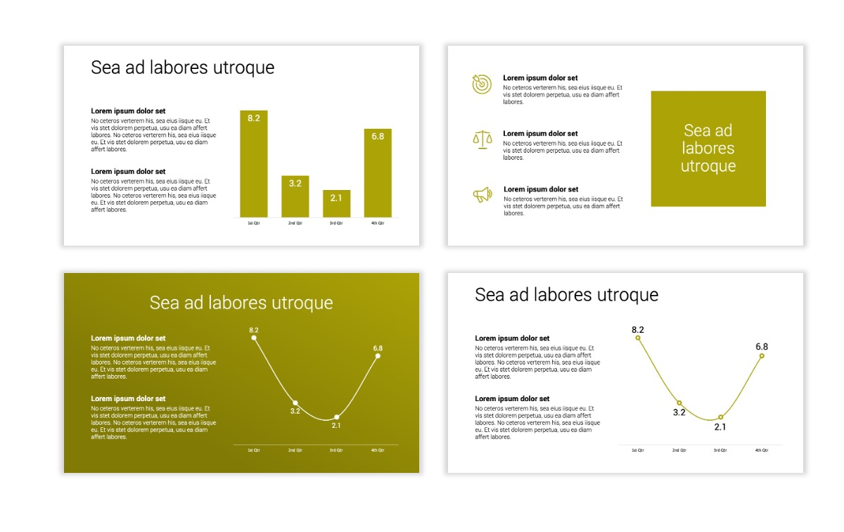 Minimal PPT Templates - Olive Green - Colorful - Interior Design - Real Estate Slide5