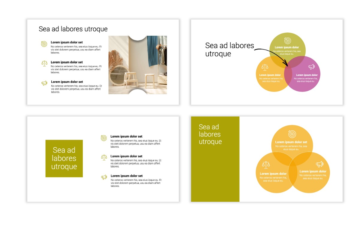 Minimal PPT Templates - Olive Green - Colorful - Interior Design - Real Estate Slide6