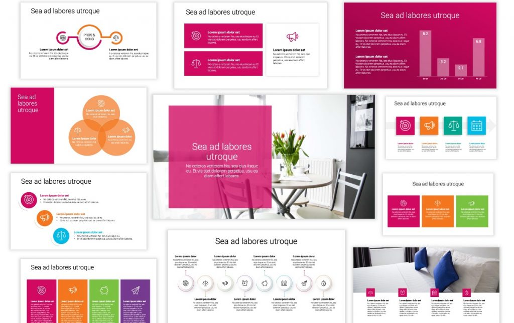 Toronto Minimal Bright Pink PowerPoint Template