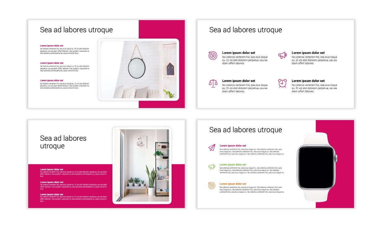 Minimal PPT Templates - Pink - Bright - Interior Design - Real Estate Slide10