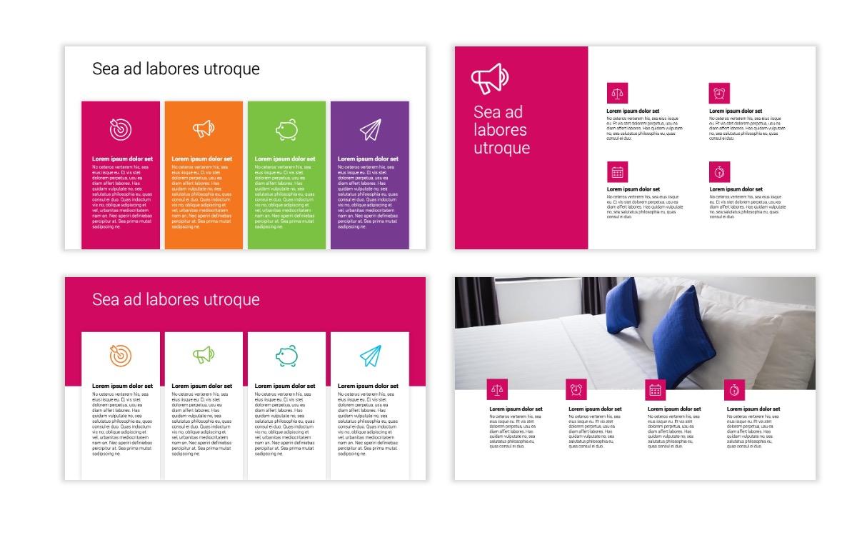 Minimal PPT Templates - Pink - Bright - Interior Design - Real Estate Slide13
