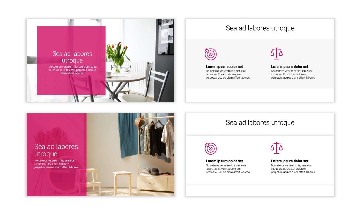 Minimal PPT Templates - Pink - Bright - Interior Design - Real Estate Slide2