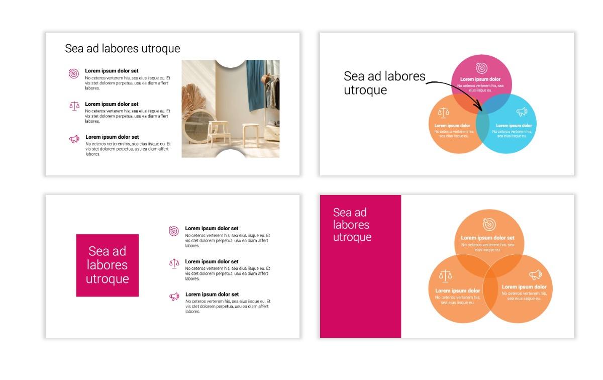 Minimal PPT Templates - Pink - Bright - Interior Design - Real Estate Slide6