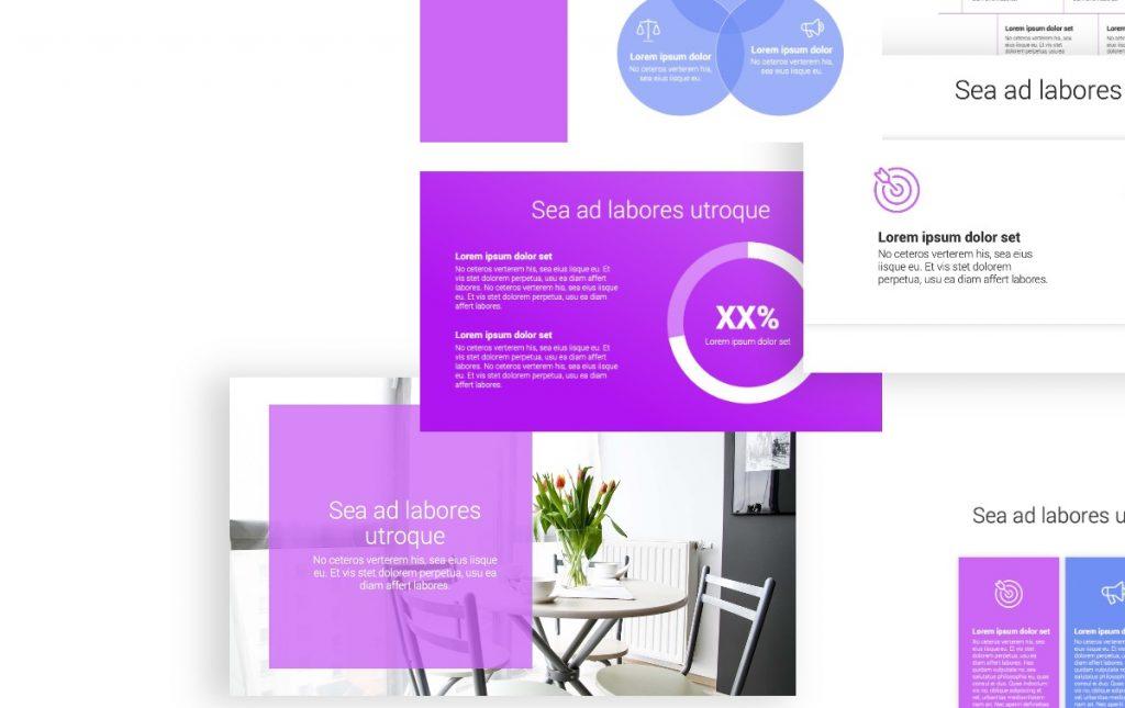 Toronto Minimal Bright Purple PowerPoint Template