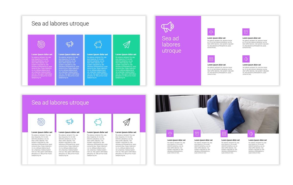 Minimal PPT Templates - Purple - Bright - Colorful - Interior Design - Real Estate Slide13