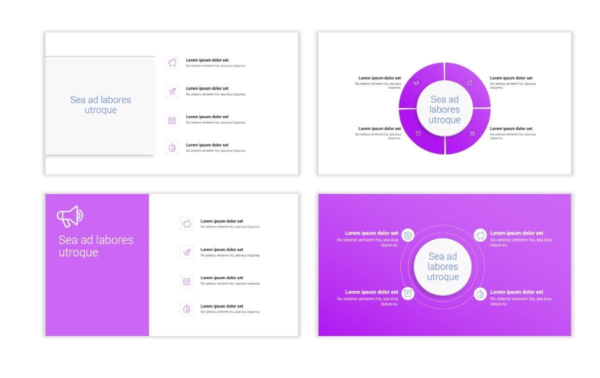 Minimal PPT Templates - Purple - Bright - Colorful - Interior Design - Real Estate Slide15
