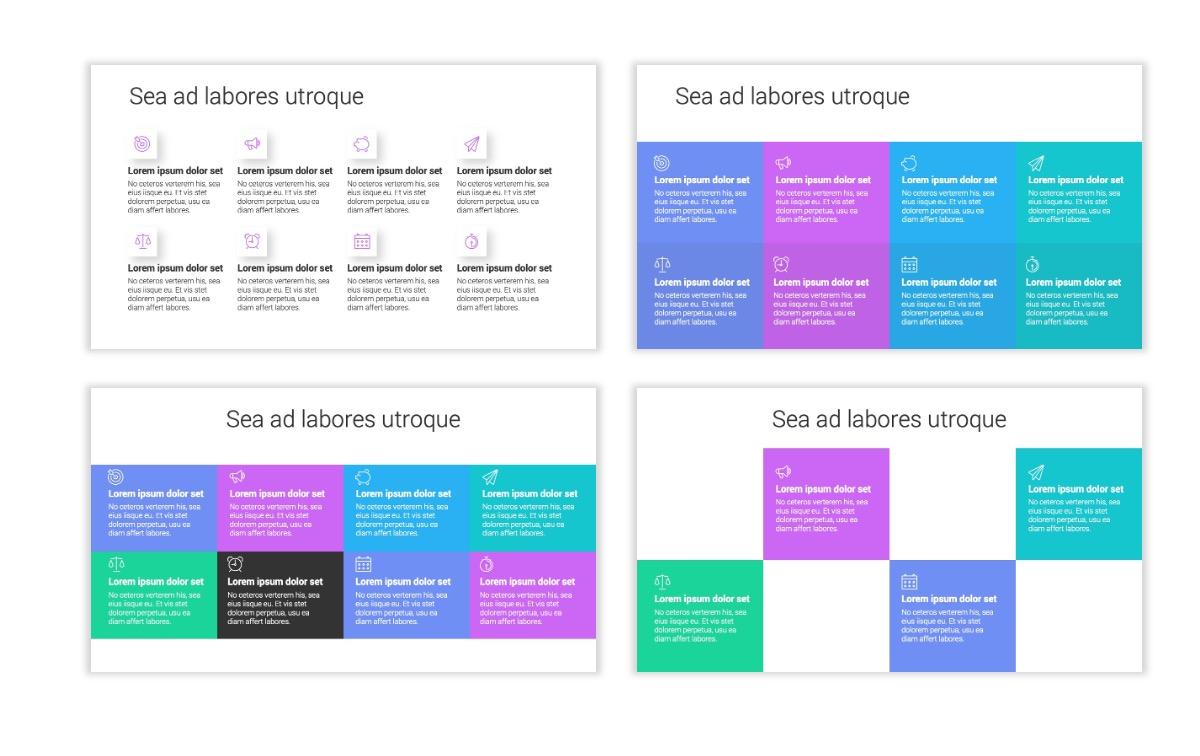 Minimal PPT Templates - Purple - Bright - Colorful - Interior Design - Real Estate Slide18