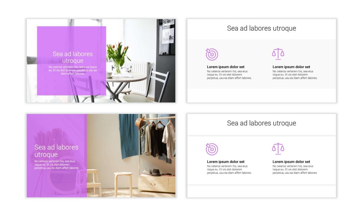 Minimal PPT Templates - Purple - Bright - Colorful - Interior Design - Real Estate Slide2