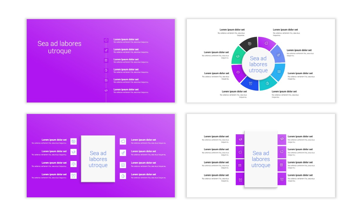 Minimal PPT Templates - Purple - Bright - Colorful - Interior Design - Real Estate Slide21