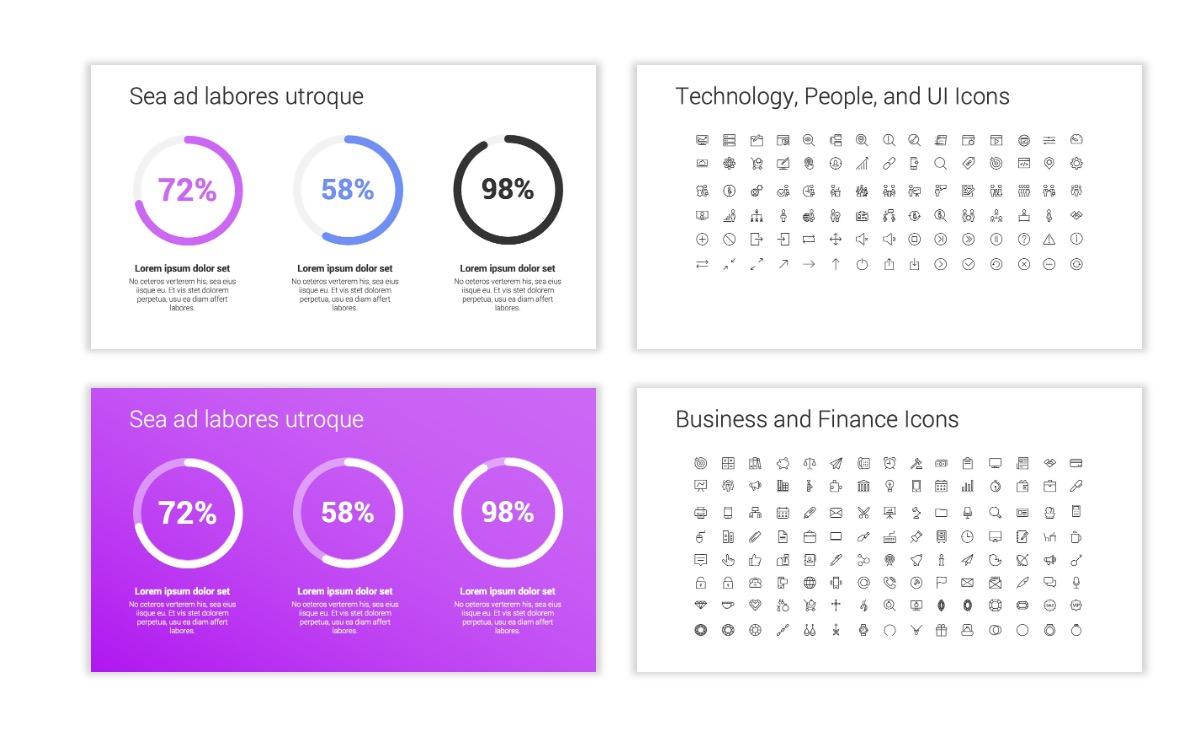 Minimal PPT Templates - Purple - Bright - Colorful - Interior Design - Real Estate Slide26