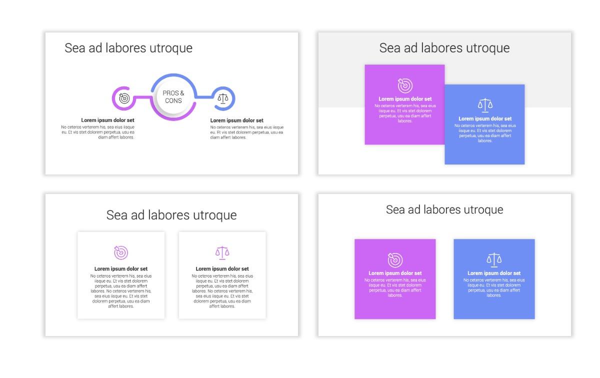 Minimal PPT Templates - Purple - Bright - Colorful - Interior Design - Real Estate Slide3