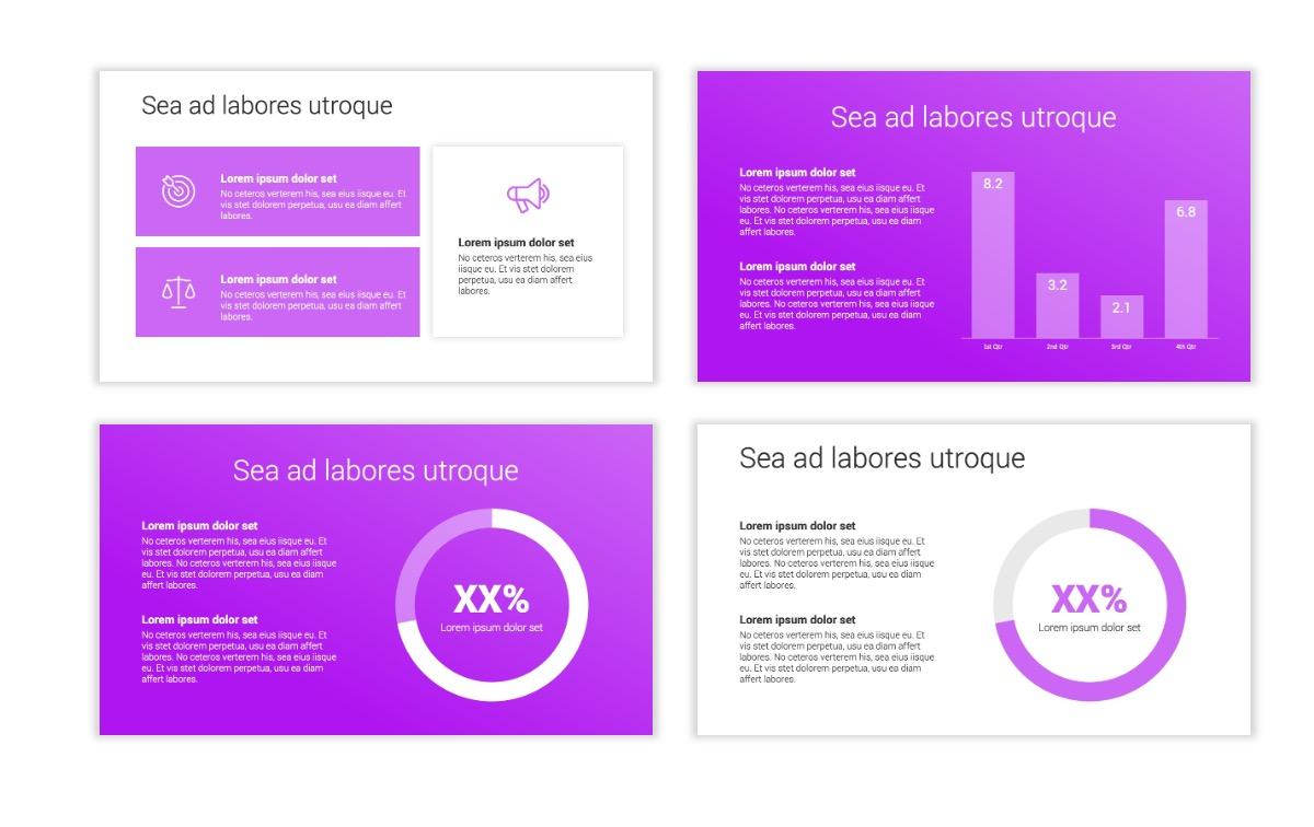 Minimal PPT Templates - Purple - Bright - Colorful - Interior Design - Real Estate Slide4