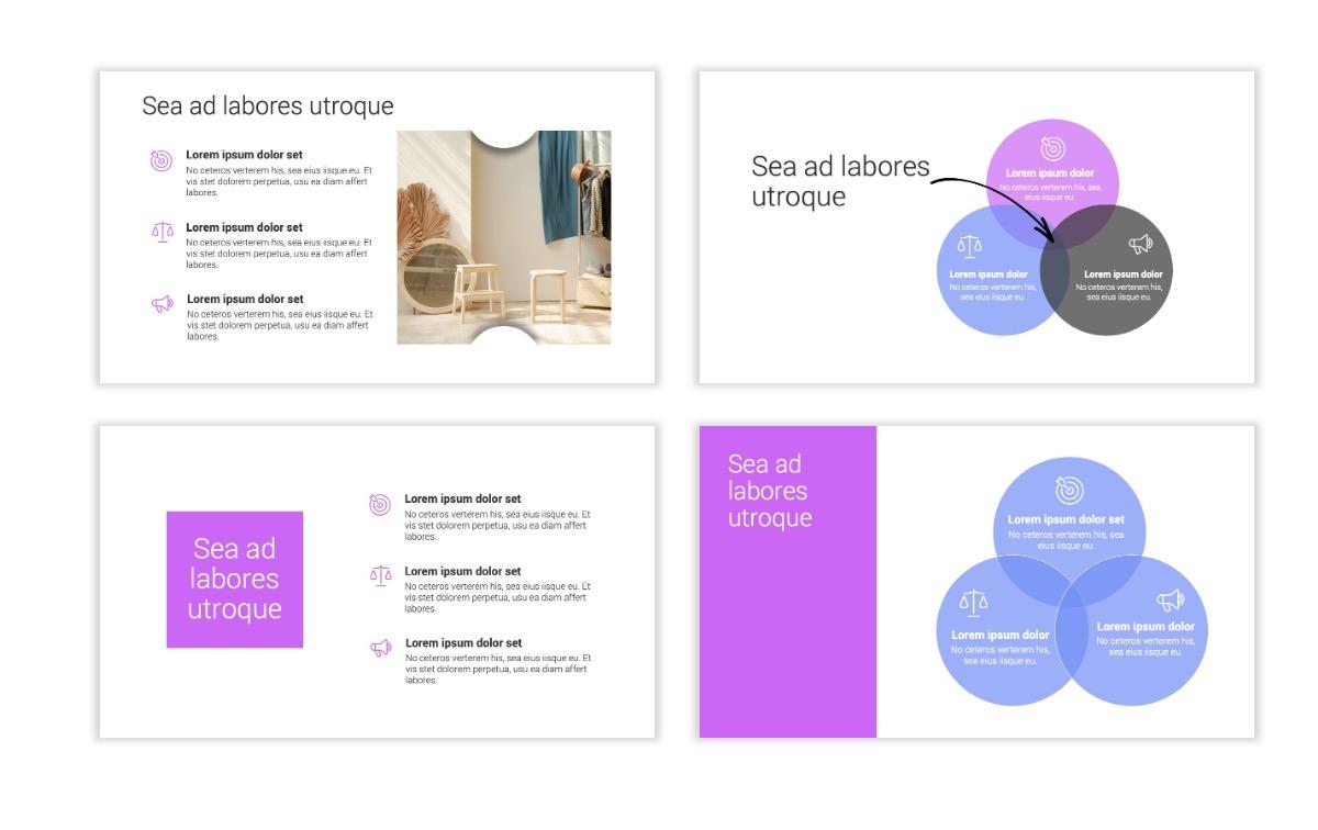 Minimal PPT Templates - Purple - Bright - Colorful - Interior Design - Real Estate Slide6