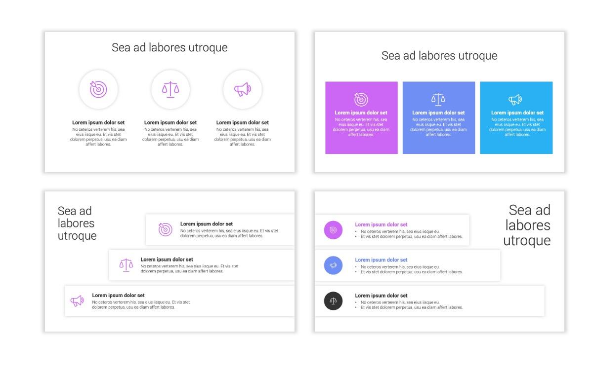 Minimal PPT Templates - Purple - Bright - Colorful - Interior Design - Real Estate Slide7