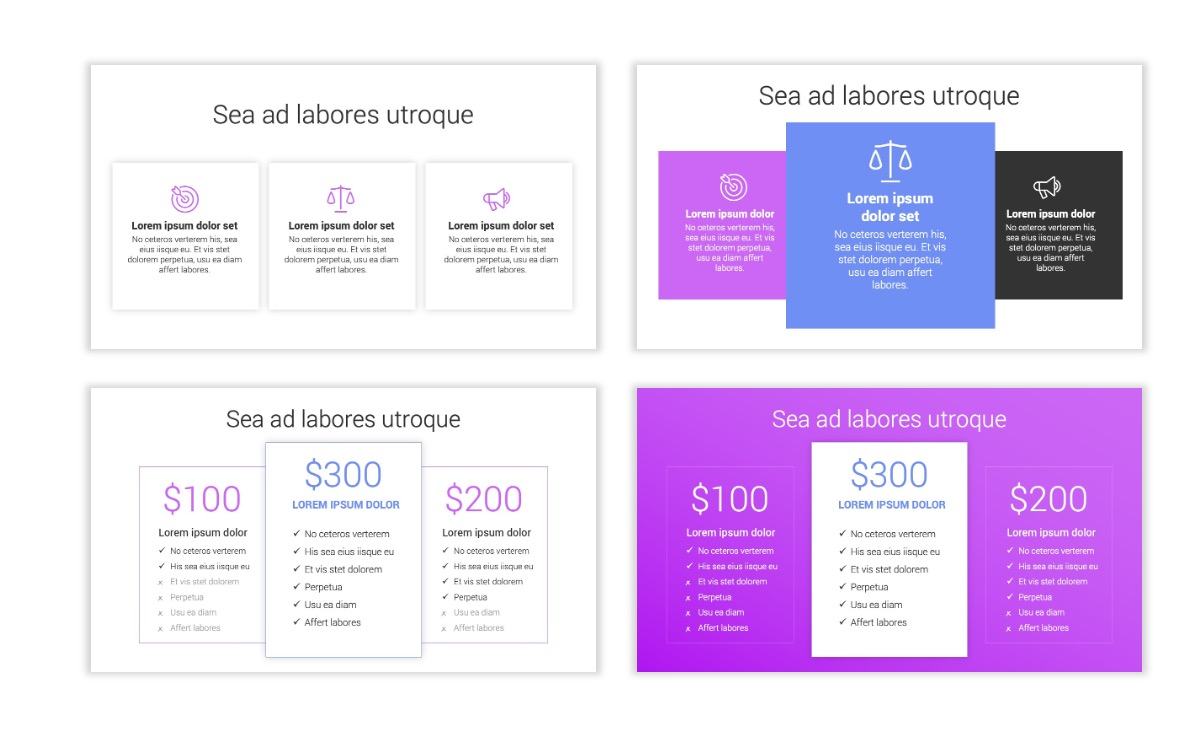 Minimal PPT Templates - Purple - Bright - Colorful - Interior Design - Real Estate Slide8