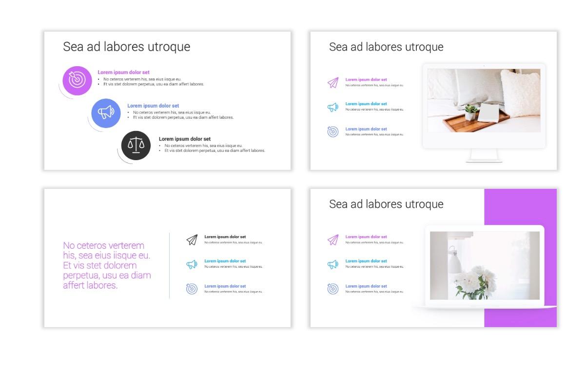Minimal PPT Templates - Purple - Bright - Colorful - Interior Design - Real Estate Slide9