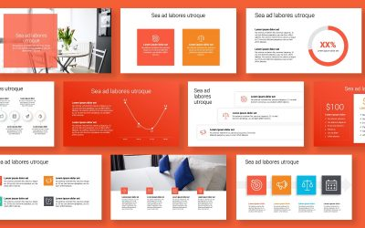 TORONTO MINIMAL BRIGHT RED POWERPOINT TEMPLATE