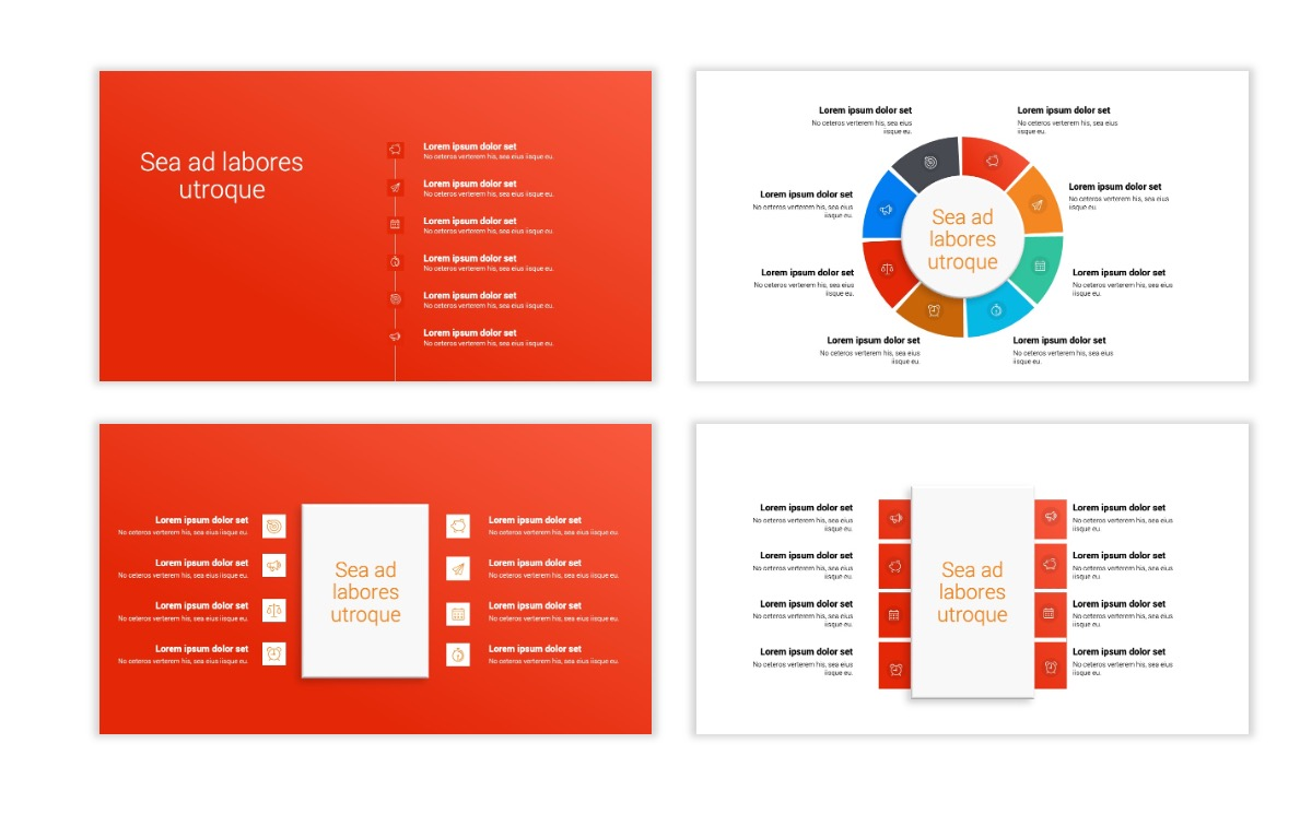 Minimal PPT Templates - Red - Bright - Colorful - Interior Design - Real Estate Slide21