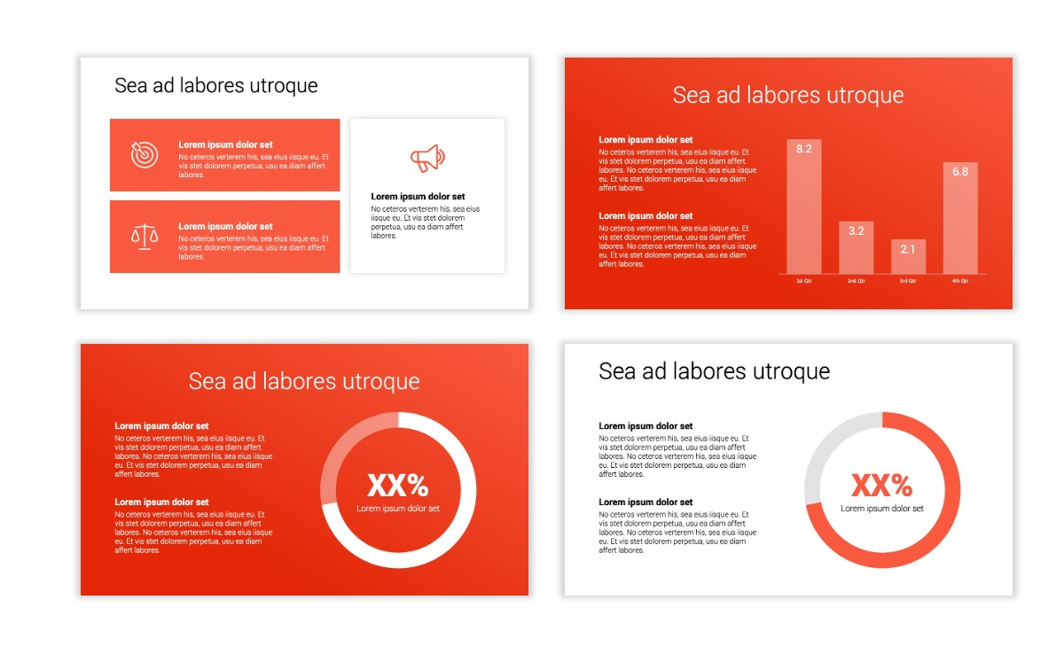 Minimal PPT Templates - Red - Bright - Colorful - Interior Design - Real Estate Slide4