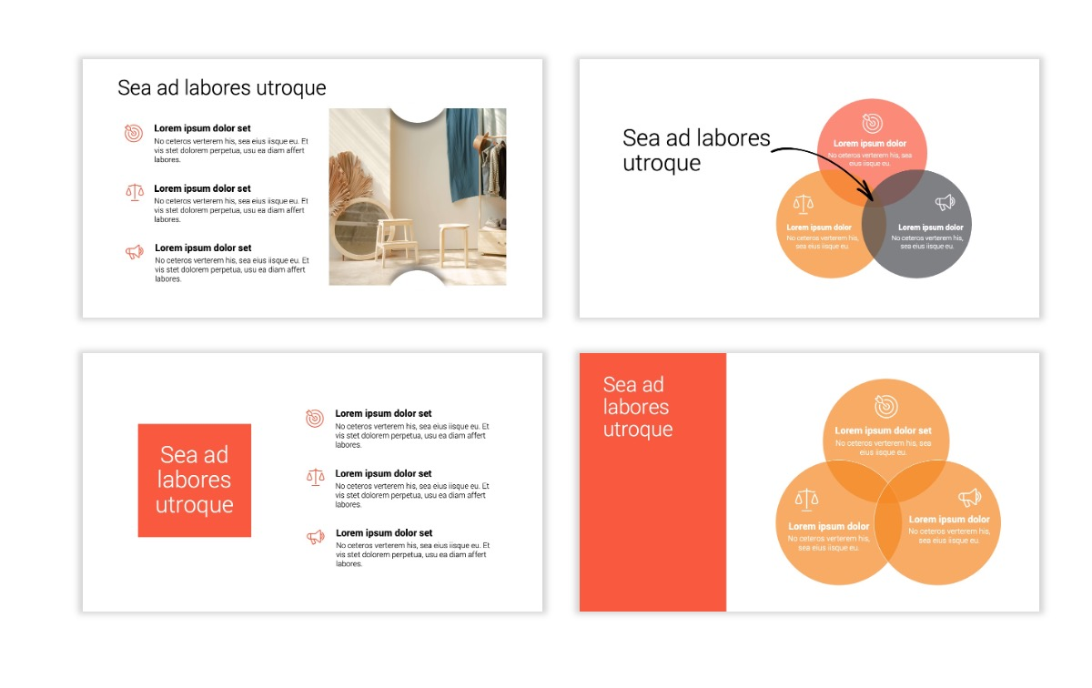 Minimal PPT Templates - Red - Bright - Colorful - Interior Design - Real Estate Slide6
