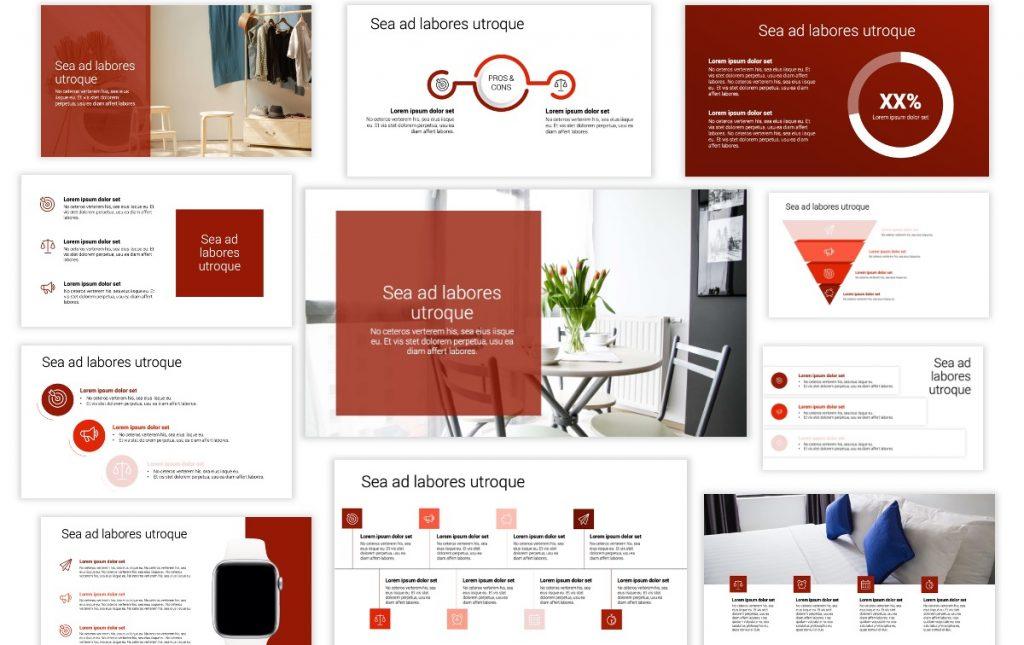 Toronto Minimal Dark Red PowerPoint Template
