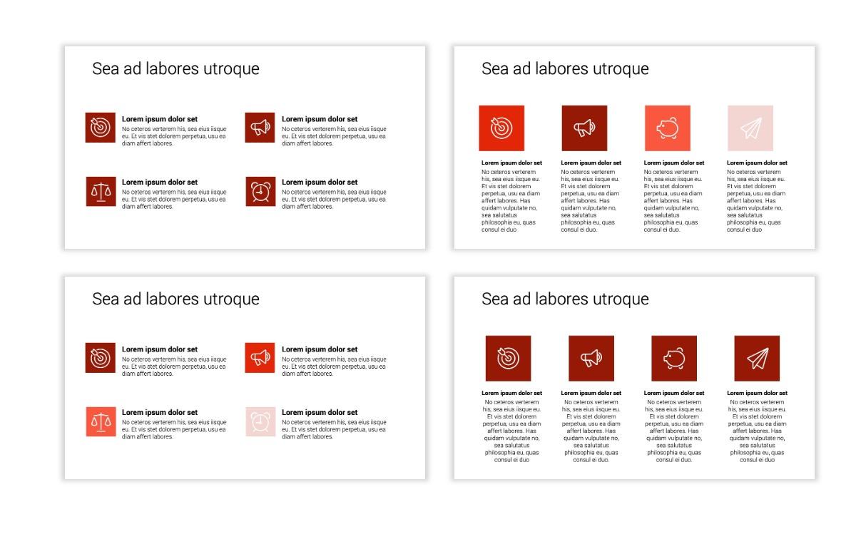 Minimal PPT Templates - Red - Monochrome - Interior Design - Real Estate Slide11
