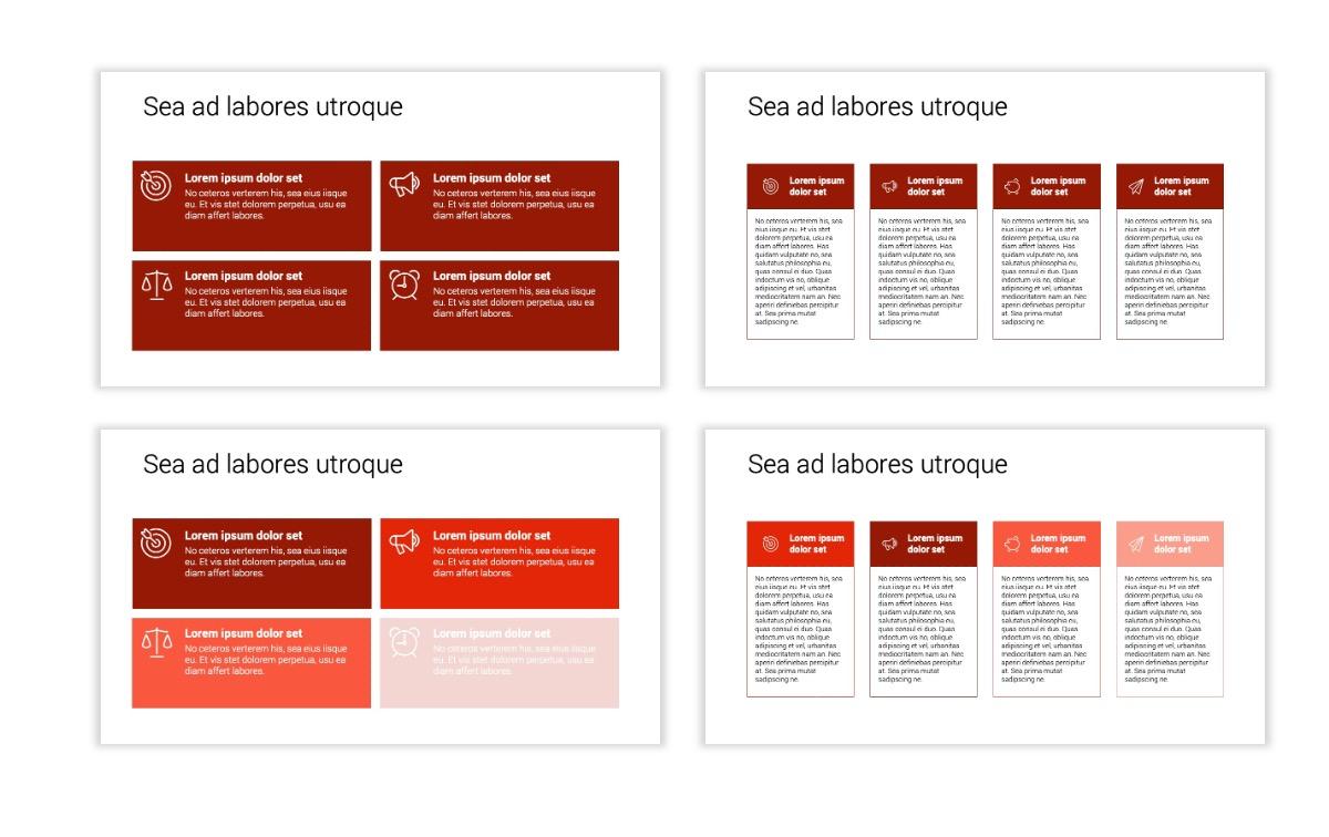 Minimal PPT Templates - Red - Monochrome - Interior Design - Real Estate Slide12