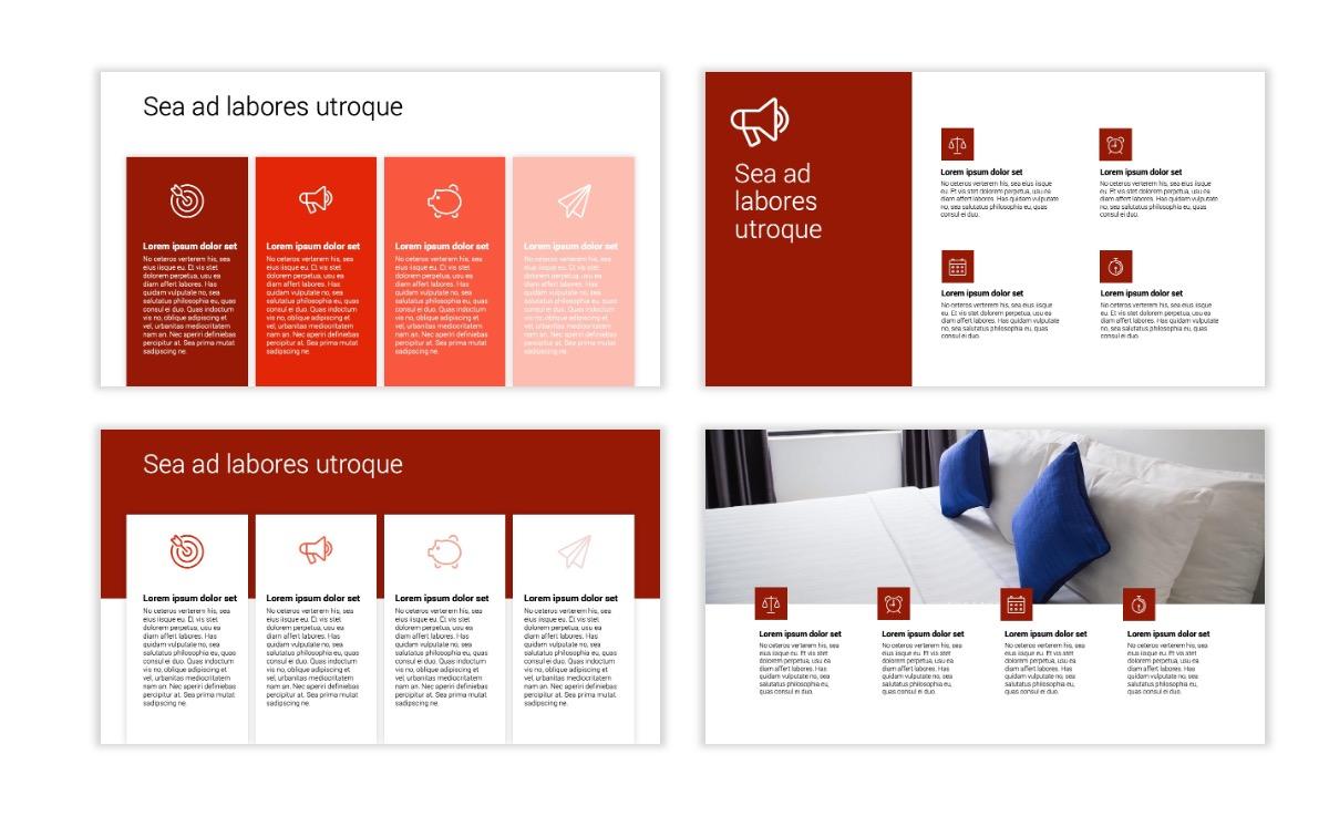 Minimal PPT Templates - Red - Monochrome - Interior Design - Real Estate Slide13