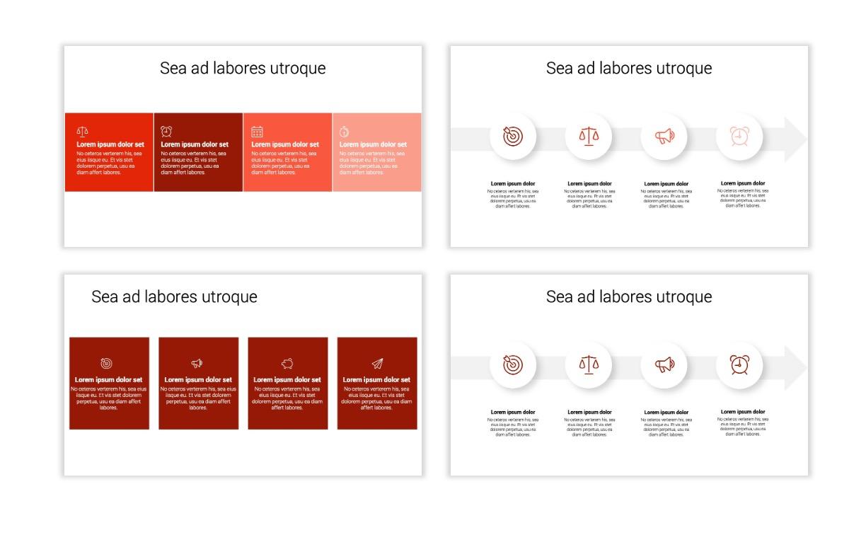 Minimal PPT Templates - Red - Monochrome - Interior Design - Real Estate Slide14