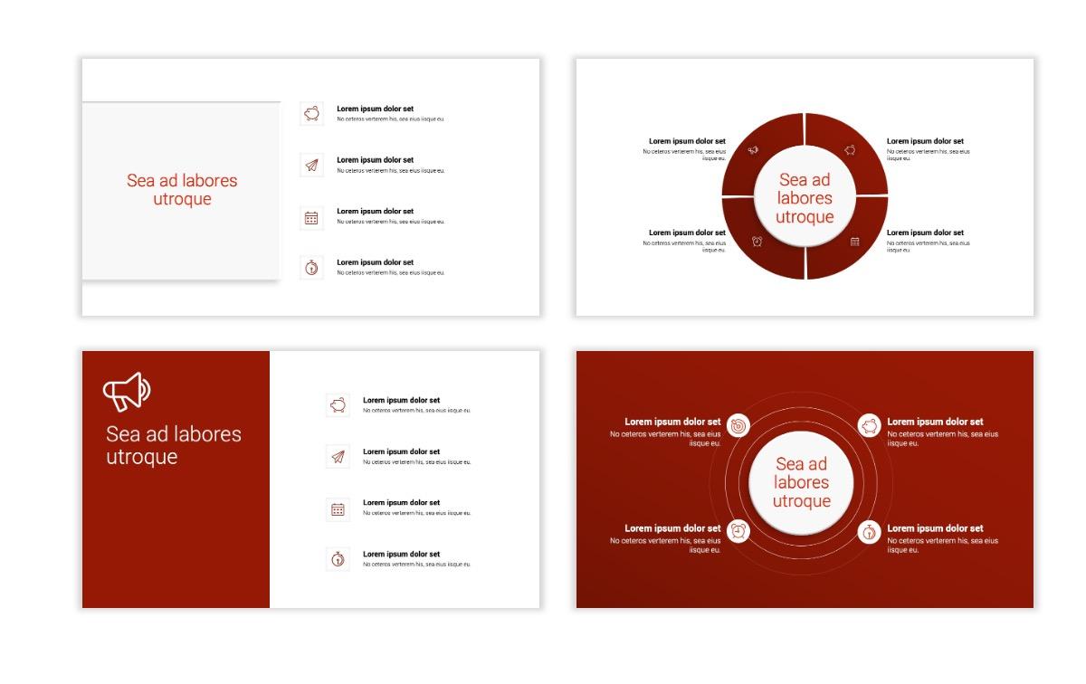 Minimal PPT Templates - Red - Monochrome - Interior Design - Real Estate Slide15