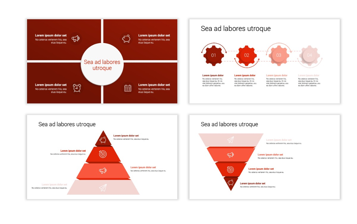 Minimal PPT Templates - Red - Monochrome - Interior Design - Real Estate Slide16