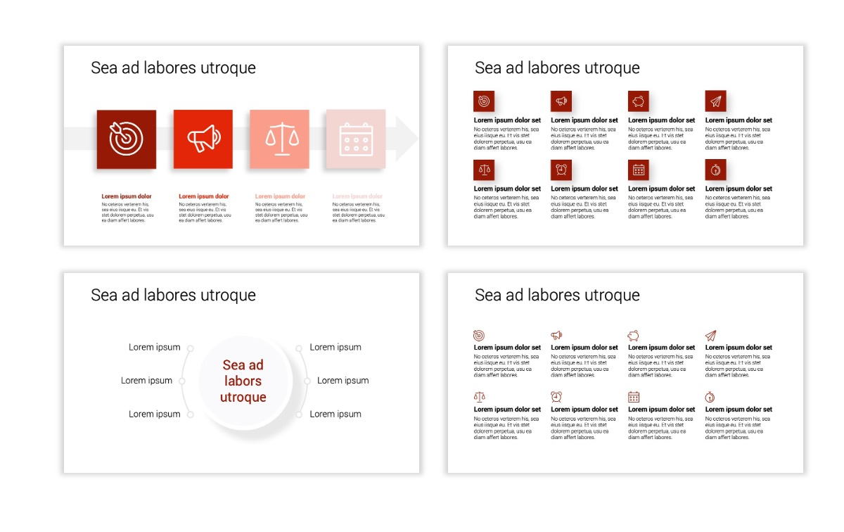 Minimal PPT Templates - Red - Monochrome - Interior Design - Real Estate Slide17