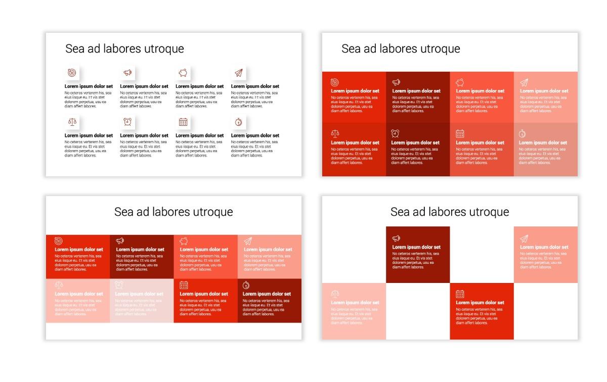 Minimal PPT Templates - Red - Monochrome - Interior Design - Real Estate Slide18