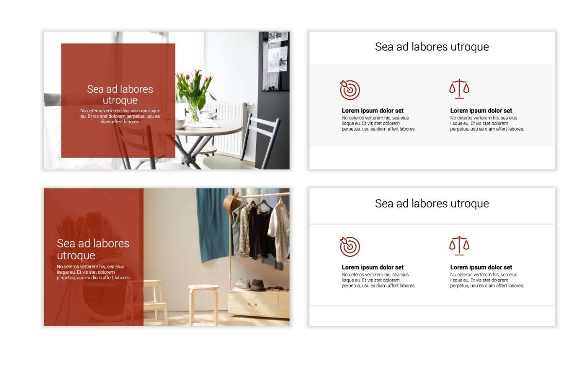 Minimal PPT Templates - Red - Monochrome - Interior Design - Real Estate Slide2