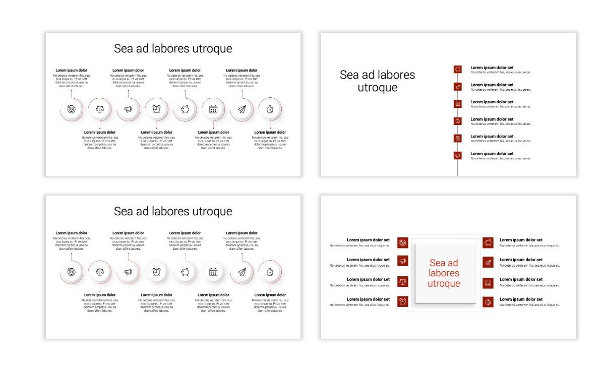 Minimal PPT Templates - Red - Monochrome - Interior Design - Real Estate Slide20