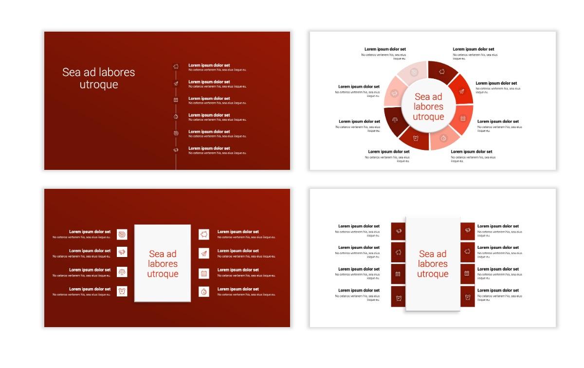 Minimal PPT Templates - Red - Monochrome - Interior Design - Real Estate Slide21