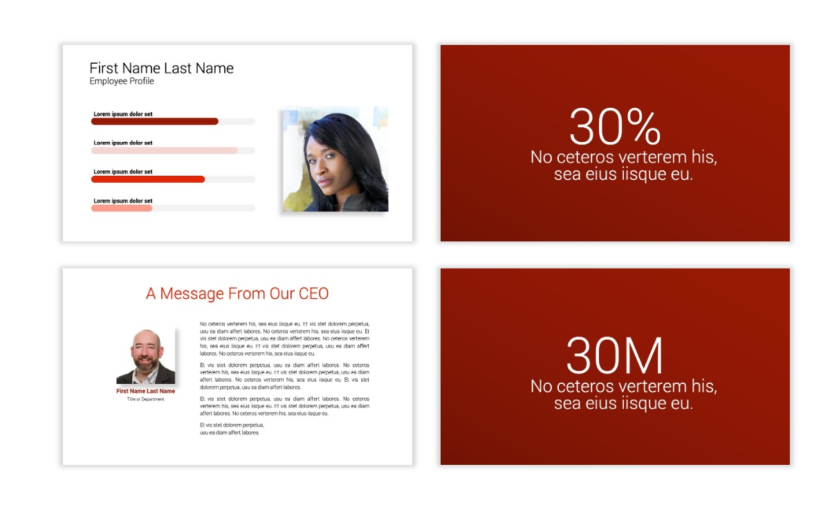 Minimal PPT Templates - Red - Monochrome - Interior Design - Real Estate Slide25