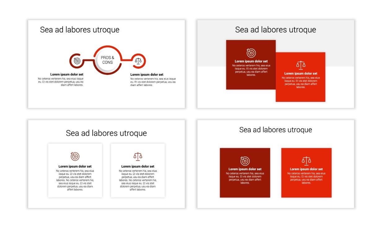 Minimal PPT Templates - Red - Monochrome - Interior Design - Real Estate Slide3