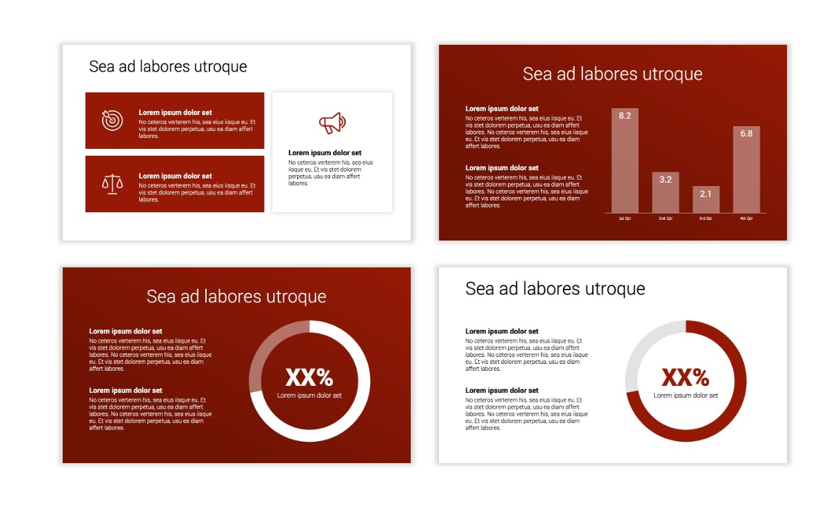 Minimal PPT Templates - Red - Monochrome - Interior Design - Real Estate Slide4