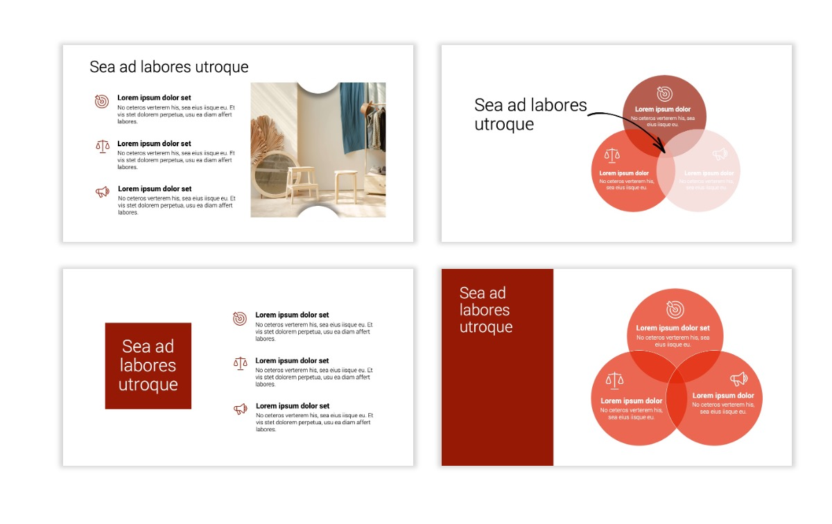 Minimal PPT Templates - Red - Monochrome - Interior Design - Real Estate Slide6