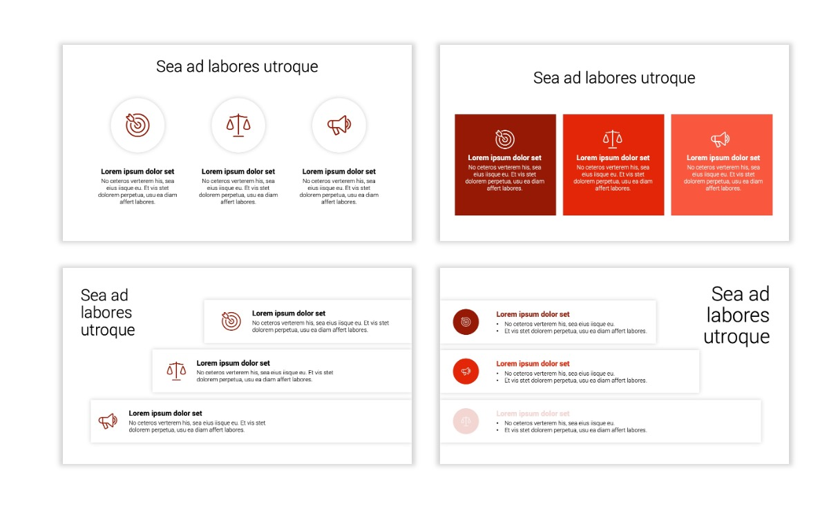 Minimal PPT Templates - Red - Monochrome - Interior Design - Real Estate Slide7